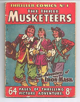 Thriller Comics Picture Library No. 1 ORIGINAL The three Musketeers