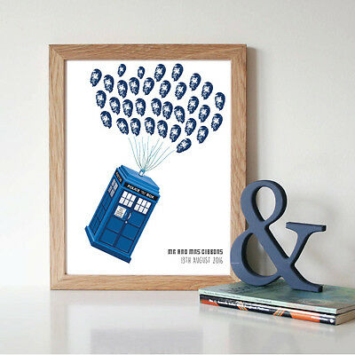 Dr Who Wedding Guest Book Alternative - Finger Print - Guest Activity