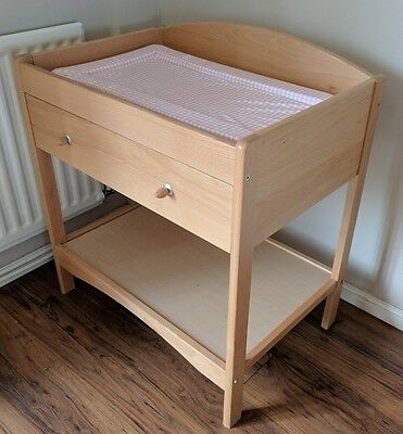 John Lewis Natural Wood Baby Changing Unit