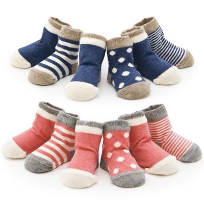 4 Pairs Newborn Infant Baby Toddler Boys Girls Cotton Ankle Socks 0-36 Months EU