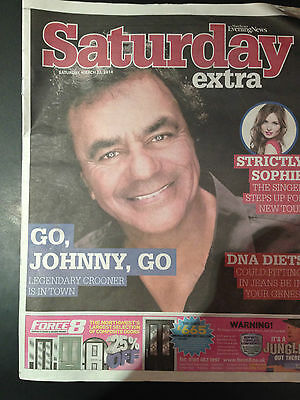 Johnny Mathis Photo Cover Interview 2014 Magazine - Graham Lee The Scorpons