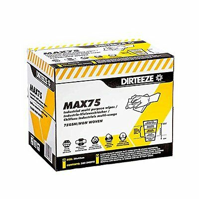 Multi Purpose Non-Woven Cleaning Wipes, Wiping Rag MAX75 by DIRTEEZE - 200 per