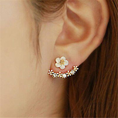 Crystal Women Girl Rhinestone Daisy Flower Ear Stud Earrings Jewelry Gift EU
