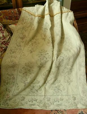 Antique French Woven Curtain or Fabric