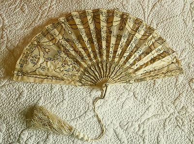 Antique Silk & Sequin Fan