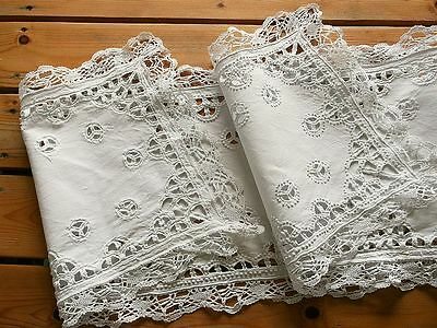 Antique Handmade Lace Table Runner