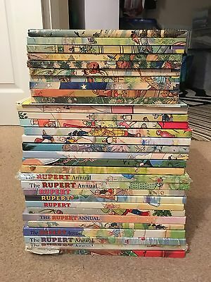 Collection Bundle Of Rupert Annuals Books Collectible Vintage Lot Some Signed