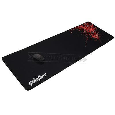 Extended Gaming Large Mouse Pad 90x30cm XXL Big Size Desk Mat Black& Red UK Ship