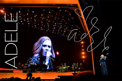 Adele Adkins Signed Autographed A3 Glossy Poster Print