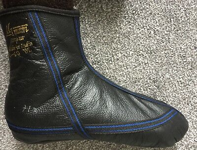 High Quality Leather Socks Khuffs FLEECE LINED SOLE size 7 8 9 10