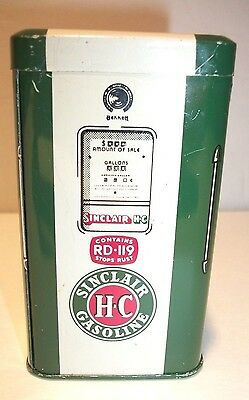 Vintage Green Sinclair Gas Pump Tin Advertising Bank