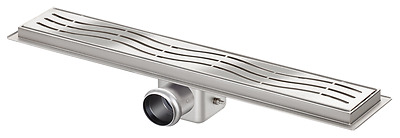 shower channel drain stainless steel