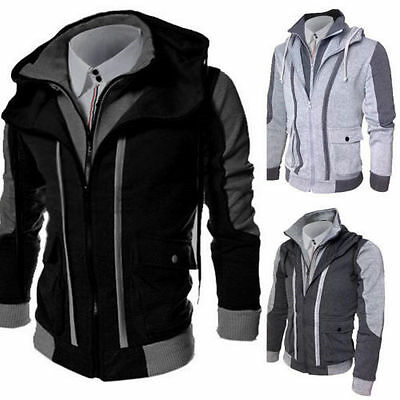 HOT Men's Slim Collar Jackets Fashion Jacket Tops Casual Coat Outerwear New