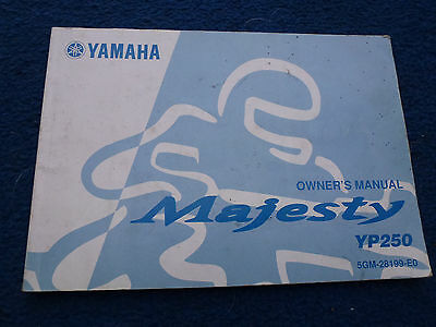 Yamaha Yp250 Majesty Owners Manual 5Gm-28199-E0