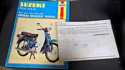 Suzuki Fr50 Owners Manual 1979 & Fr50 Fr70 Fr80 Haynes Manual