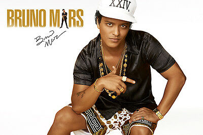 Bruno Mars Signed Autographed A3 Glossy Poster Print