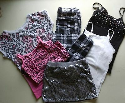 Girls lot of 6 Size 6-7 & 8 JUSTICE OLD NAVY MIX MATCH OUTFITS