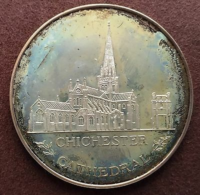 1986 Chichester Cathedral Royal Maundy Sterling Silver Medallion - Rare!!!!