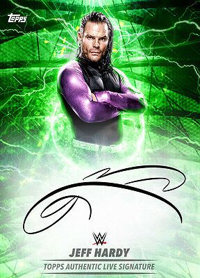 Topps SLAM WWE Jeff Hardy Live Signature (Green) Limited [Digital Card]