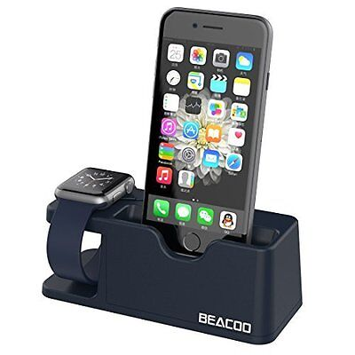 Apple Watch Stand Charging Dock for Series 1 & 2 & iPhone 7/7Plus/6/6Plus Blue