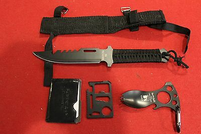 Survival Gear Knife Tactical Fishing Hunting Hiking Camping Edc Tool Military