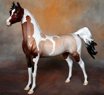 Peter Stone Model Horse TRISCUIT -- Glossy Roan Pinto Extreme Arab Arabian