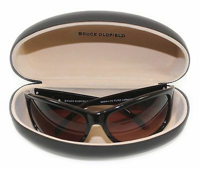 Genuine Womens Bruce Oldfield Tortoise Brown Wrap Style Sunglasses with Case