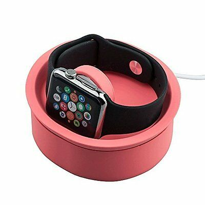 Apple Watch Stand Charging Dock Station Silicone for Apple Watch Pink New