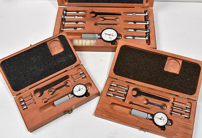 "Three Starrett #82 sets A, B and C - .107"" to 1.565"" dial bore gage machinist"