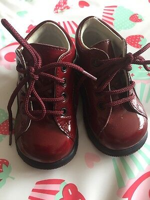 Falcotto baby Girl/boy Burgundy Shoes, Size 18