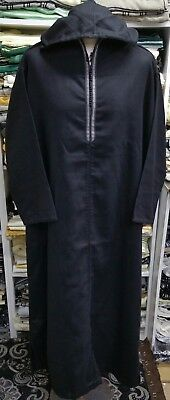 Men genuine Moroccan wool hooded jalabiya/thobe/jubba/Fit -SIZE 54 & 56 .