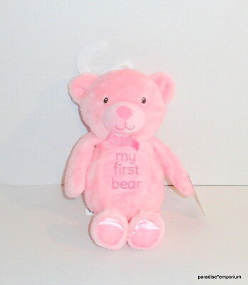 New Baby Starters Pink MY FIRST BEAR Plush Lovey Toy P81