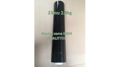 Black STRECH Shrink PALLET WRAP Film Strong Heavy Duty Standard 500mm 250m 23mu