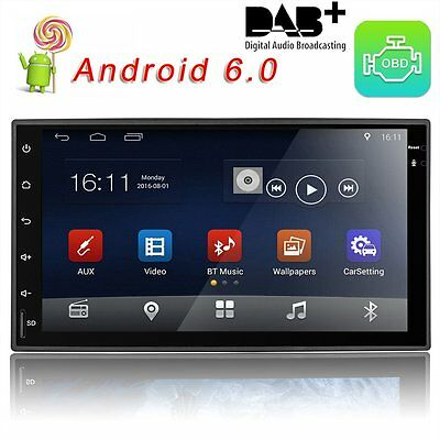 """7"""" Android 6.0 Autoradio 1G/16G GPS Touch Bluetooth Navigation Car Stereo Player"""