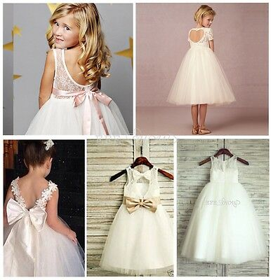 Flower Girl /Bridesmaid/Party/Princess/Prom/Wedding/Christening/Communion Dress