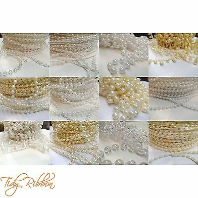 Pearls String Beads 2.5mm 3mm 4mm 8mm Drop Flatback Sewing Wedding Bridal Cake