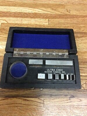 "Vintage Gage Block Set, Geo. Scherr Tumico Co.,  ""ULTRA CHEX "", Used."