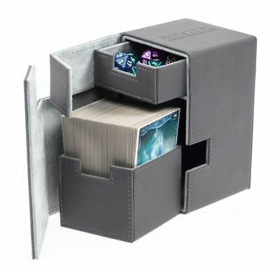 Ultimate Guard - Flip'n'Tray XenoSkin Deck Case 100+ Grey Gaming Deck Karten Box