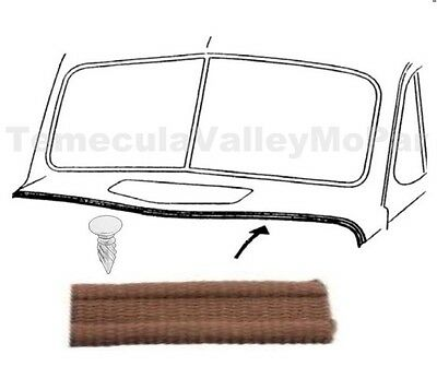 Hood-to-Cowl Lacing w/Nails for 1941-1948 Plymouth - Dodge - DeSoto - Chrysler