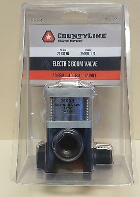CountyLine Electric Boom Valve 2 AMP 10 GPM 100PSI 12 Volt #2500B-1 CL New