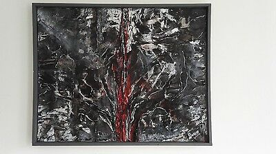 Contemporary Modern Abstract Painting - Oil on canvas - 30 + 24 inches