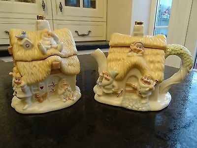 Disney Lenox Seven Dwarfs Creamer And Sugar Set