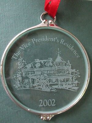 The Vice President's Residence Foundation Christmas 2002 Holiday Ornament