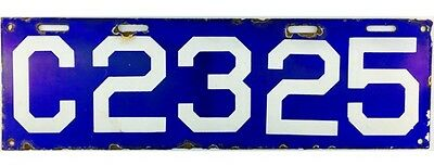1913 Connecticut PORCELAIN License Plate #2325 NICE PLATE
