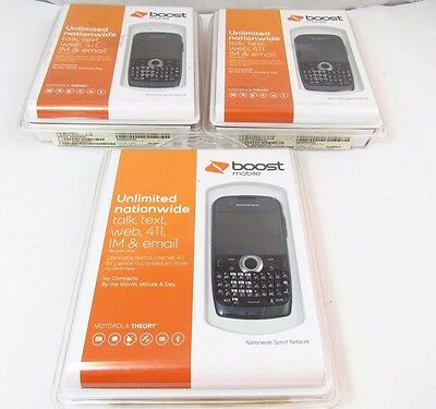 Lot of 3 Motorola Theory - Black (Boost Mobile) (Clean ESN)_B12