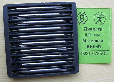 Packing 10 PCS D 0,9 mm CENTER CARBIDE  DRILLS COMBINED .
