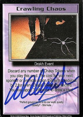 BABYLON 5 CCG Wayne Alexander WHEEL OF FIRE Crawling Chaos AUTOGRAPHED