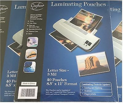 Laminating Pouches Crofton Quality Value Pk  - 120 Letter Size 3 mil
