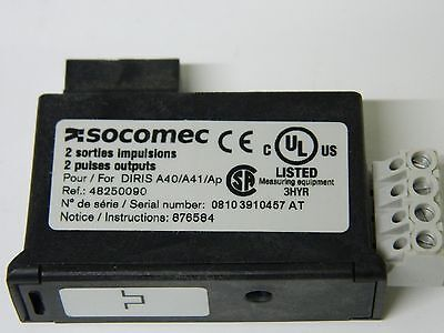 SOCOMEC 2 Pulses Outputs Module for the DIRIS A40/A41/Ap Power Meter