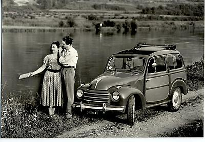 Girl & Car Automobile Fiat 500 C Giardiniera Belvedere PC 1952 Vera Foto 19